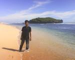 Udah sampe di pantainya.. Bersih dan sepi..