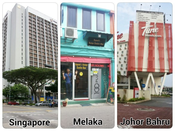 Village Hotel Bugis, Raymond's Boutique Travellers Home, dan Tune Hotels Danga Bay